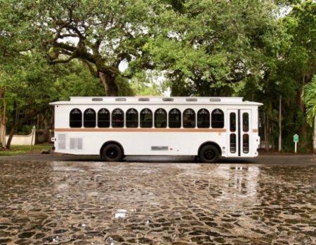 Miami White Trolley